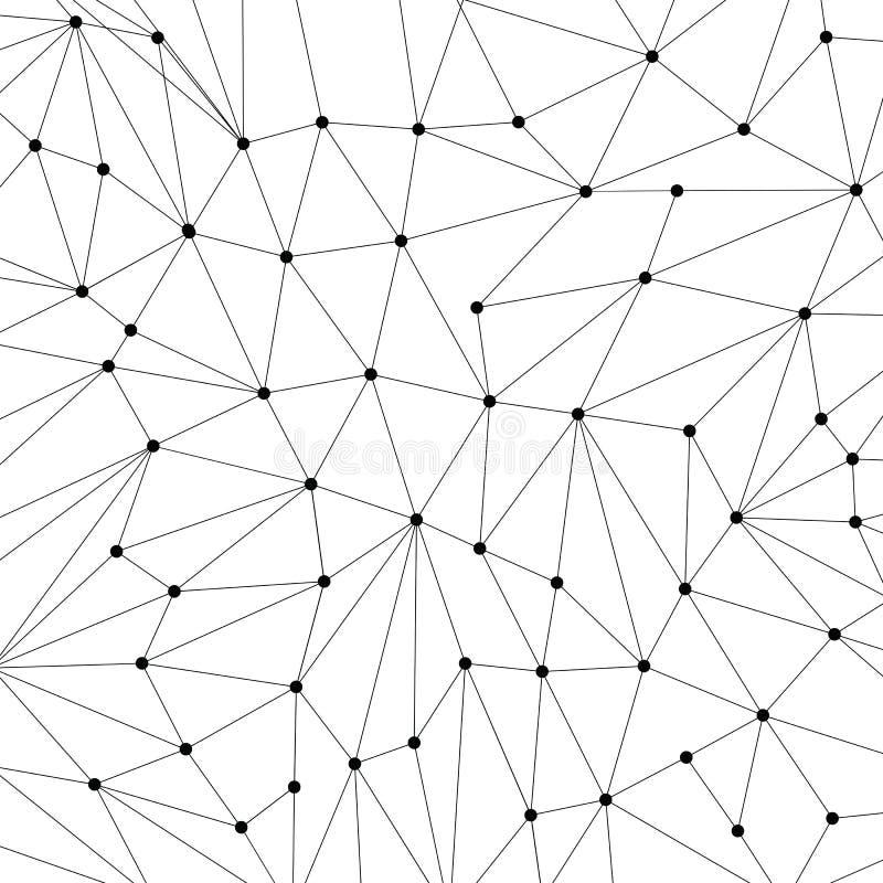 Предпосылка технологии для вебсайта от черных пунктов connecti бесплатная иллюстрация