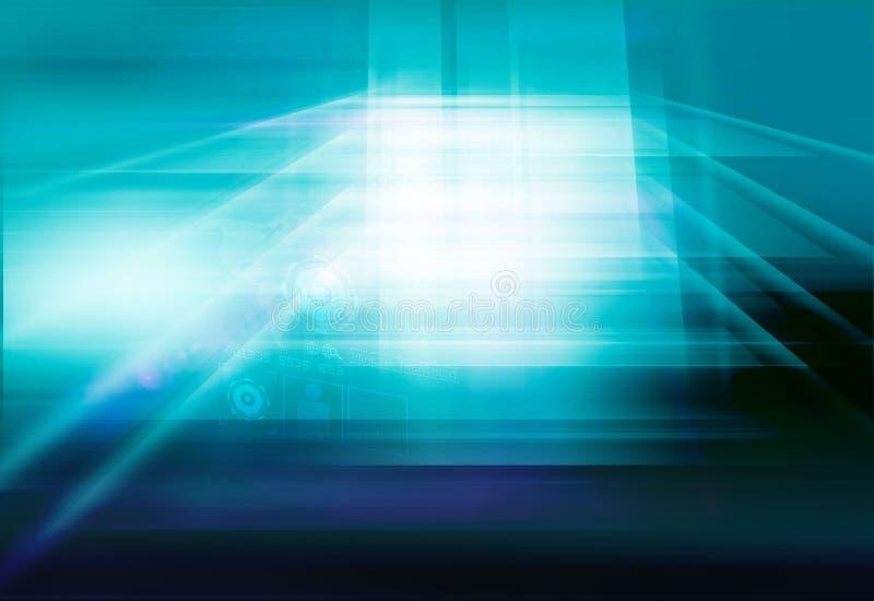 Предпосылка технологии плоского экрана абстрактного высокотехнологичного космоса 3d цифровая бесплатная иллюстрация