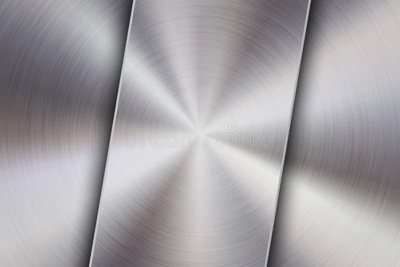 Предпосылка технологии с текстурой металла почищенной щеткой циркуляром бесплатная иллюстрация