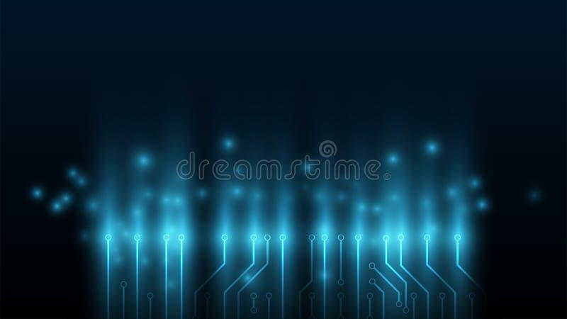 предпосылка технологии цепи, предпосылка процессора hi-техника, предпосылка для данных по технологии, скорости соединить концепци иллюстрация штока