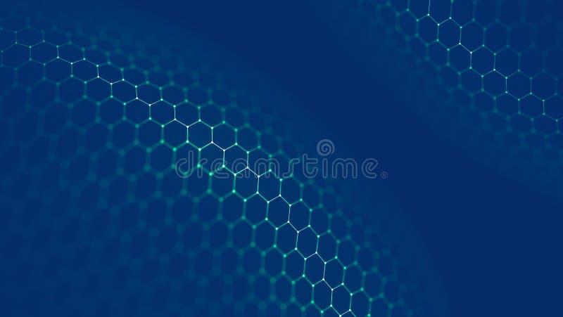 Предпосылка технологии Blockchain Сеть цепи блока fintech Cryptocurrency и программируя концепция Абстрактное Segwit иллюстрация вектора
