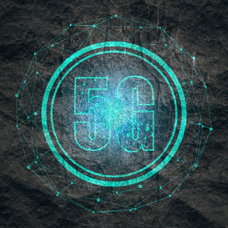 предпосылка технологии 5G стоковые изображения
