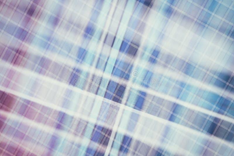 Предпосылка ткани в винтажном стиле -- фланель, связанный хлопок в классическую шотландскую клетку и текстурированный с картиной стоковая фотография