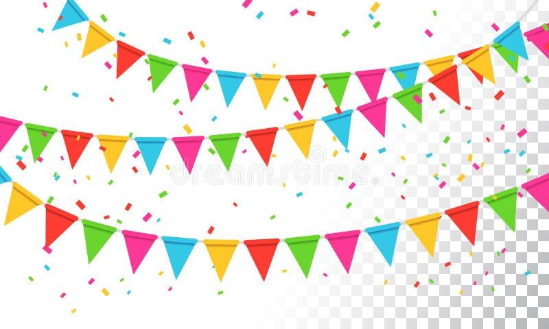 Предпосылка торжества партии Banderol иллюстрации вектора бесплатная иллюстрация