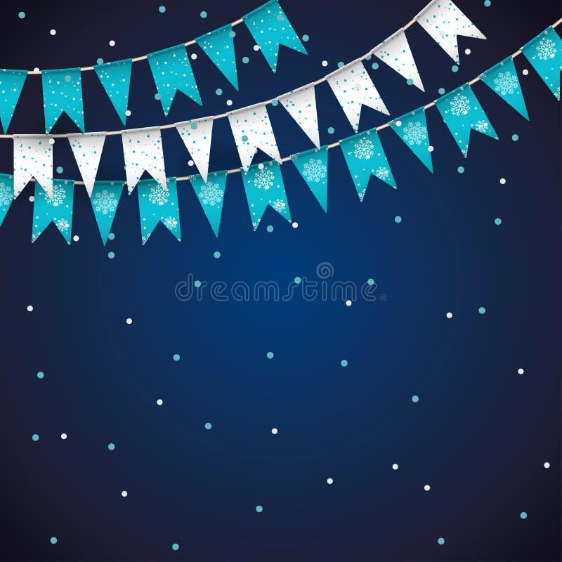 Предпосылка торжества праздника с гирляндой иллюстрация штока