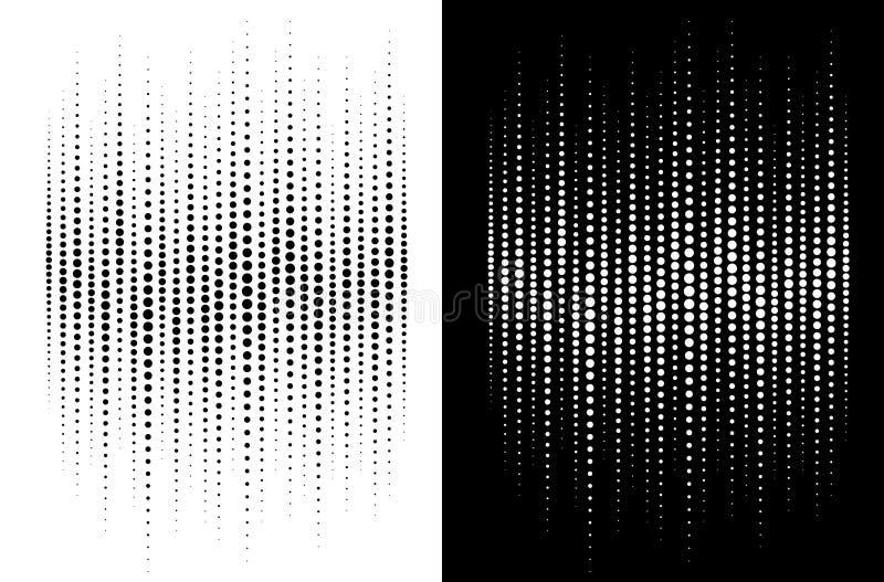 Предпосылка точек круга градиента полутонового изображения Картина полутонового изображения Grunge Звуковая война Удар музыки ауд бесплатная иллюстрация