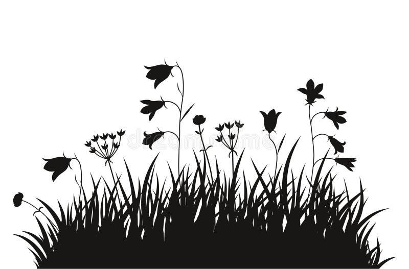 Предпосылка травы иллюстрации вектора стоковая фотография rf