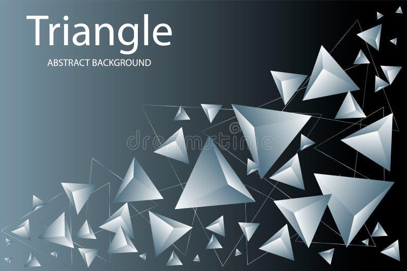 Предпосылка треугольника Абстрактный состав триангулярных пирамид r иллюстрация вектора