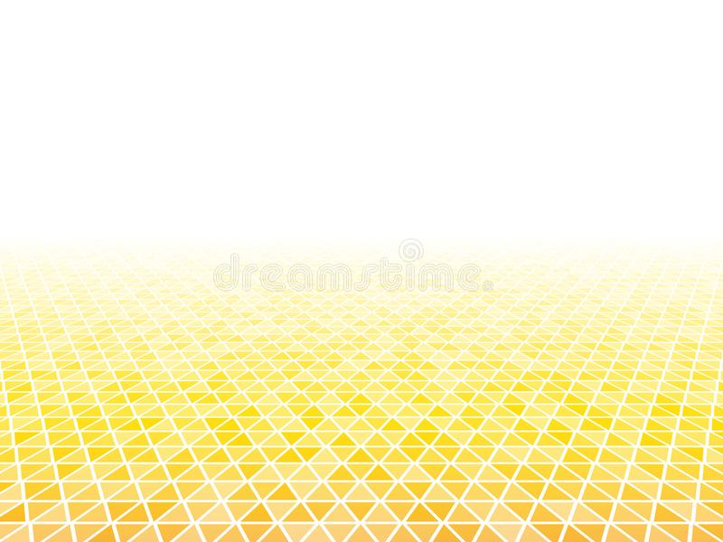 предпосылка треугольника оранжевого желтого цвета перспективы 3d иллюстрация штока