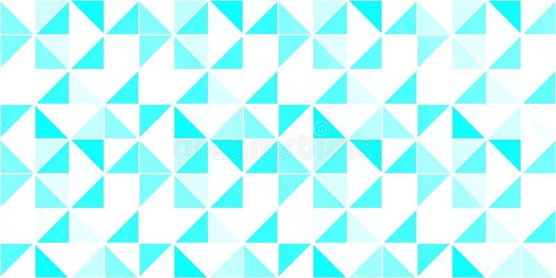предпосылка триангулярная Фон вектора современный геометрический с треугольниками Яркие цветы абстрактная текстура голубая белизн иллюстрация вектора