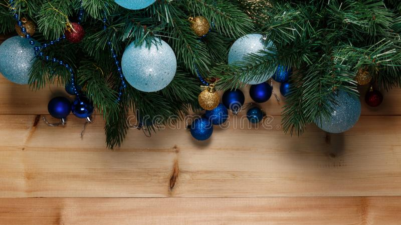 Предпосылка украшения рождества или Нового Года стоковая фотография rf