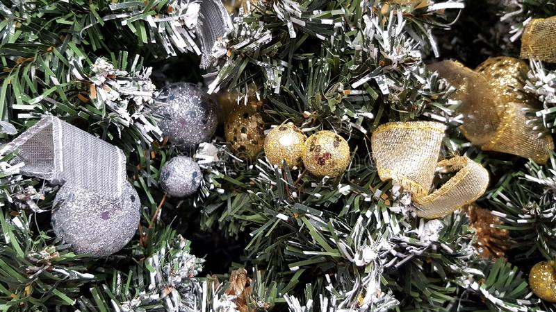 Предпосылка украшения рождества стоковые фото