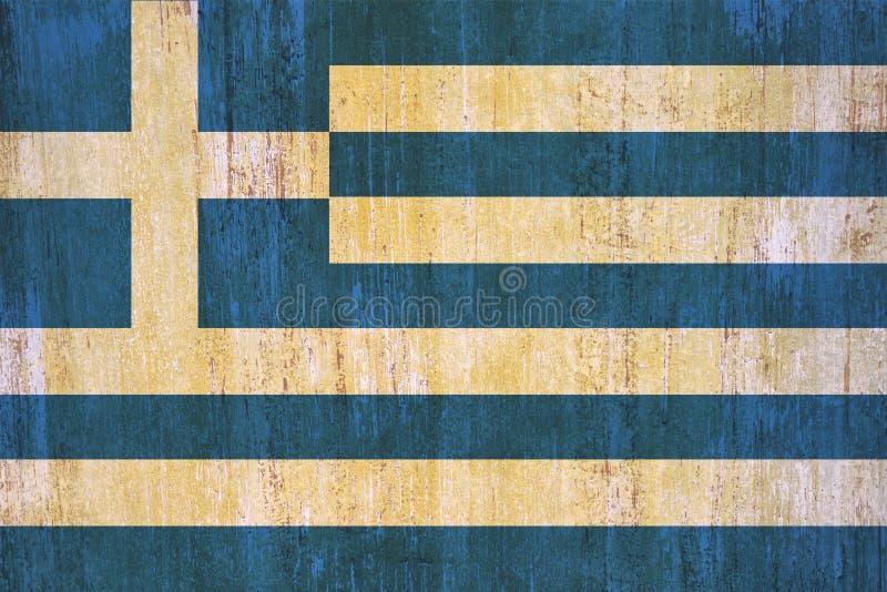 Предпосылка флага Греции в винтажном стиле бесплатная иллюстрация