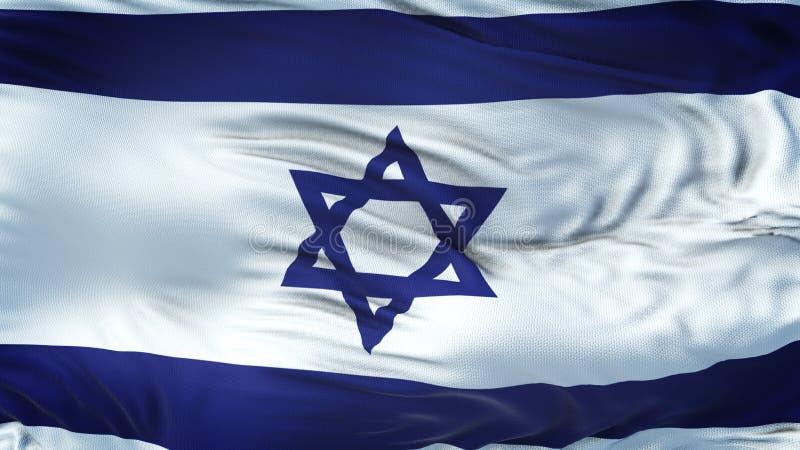 Предпосылка флага ИЗРАИЛЯ реалистическая развевая иллюстрация вектора