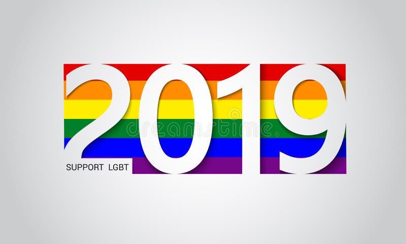 Предпосылка флага LGBT радуги пестротканая абстрактная геометрическая стоковое изображение