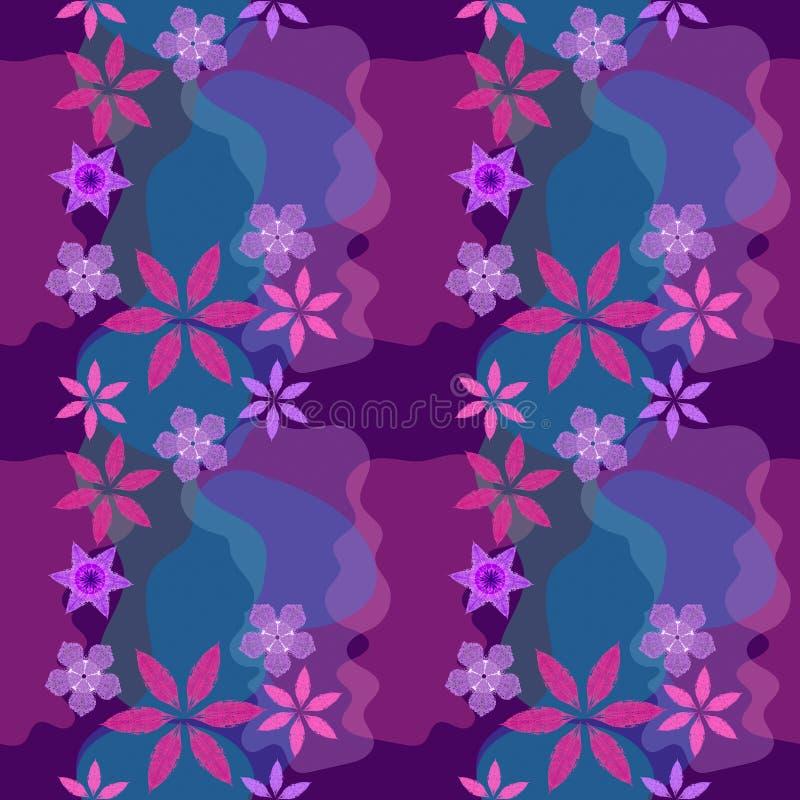 Предпосылка флористического конспекта растра безшовная красочная в восточных цветах бесплатная иллюстрация