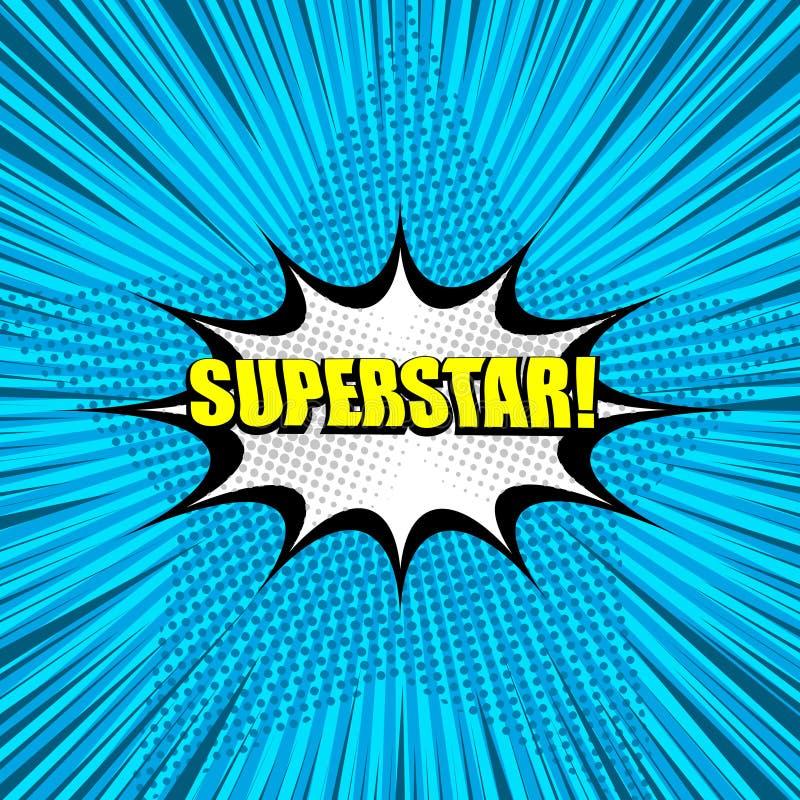 Предпосылка формулировок суперзвезды желтая шуточная иллюстрация вектора