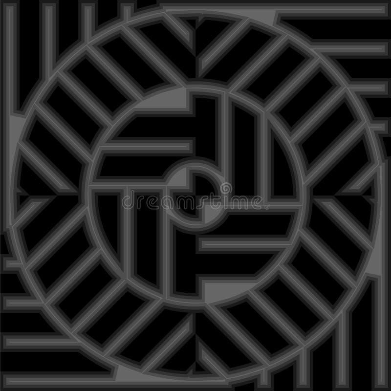 Предпосылка формы конспекта гипнотическая геометрическая бесплатная иллюстрация