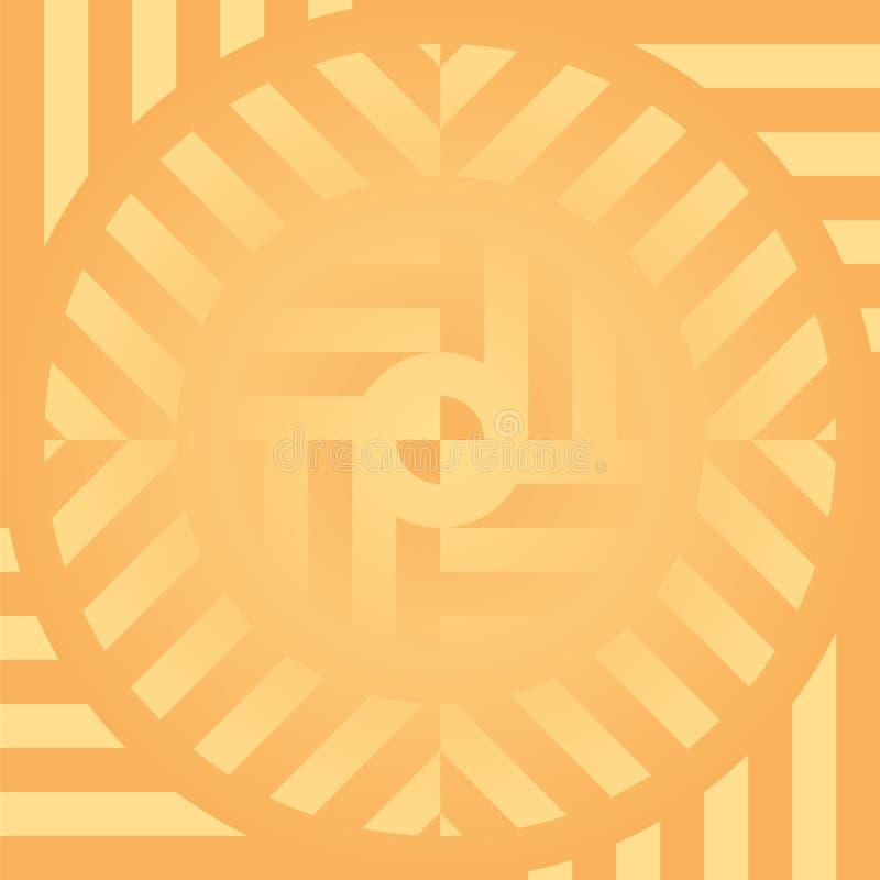 Предпосылка формы конспекта гипнотическая геометрическая иллюстрация вектора