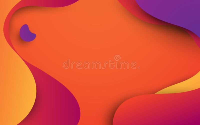 Предпосылка форм конспекта красочная жидкая r смогите быть использовано для обоев, шаблона, плаката, фона, обложки книги, brochu иллюстрация вектора
