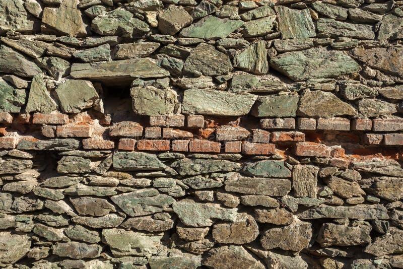 Предпосылка фото текстуры камня и кирпичной стены стоковая фотография