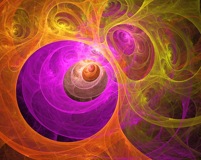 Предпосылка фрактали пестротканой свирли шипучая напитк Абстрактный яркий художнический состав движения Современная футуристическ иллюстрация штока