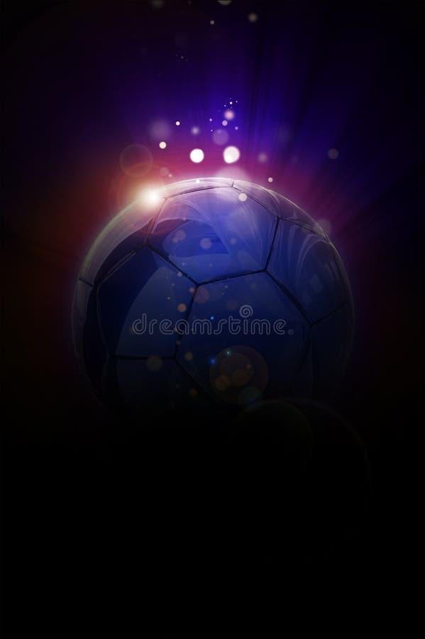 Предпосылка футбола евро иллюстрация вектора