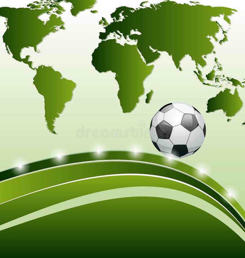 Предпосылка футбола с шариком для карточки конструкции иллюстрация вектора