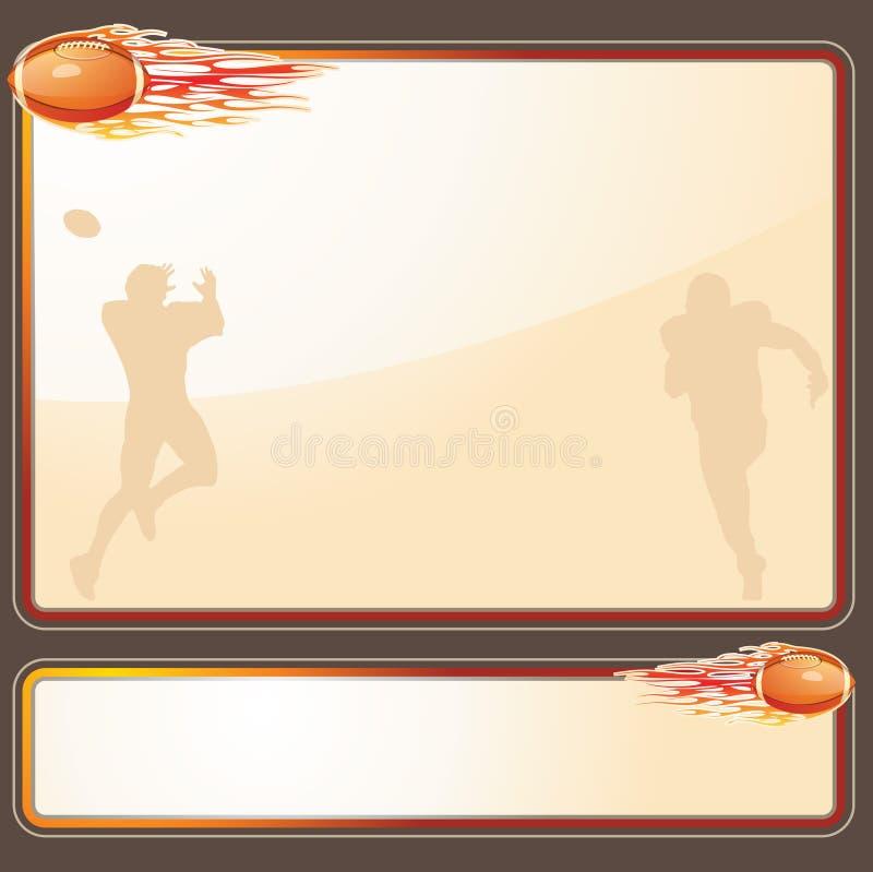 Предпосылка футбола иллюстрация вектора