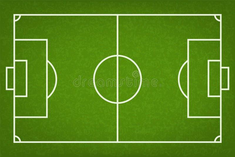 Предпосылка футбольного поля или футбольного поля вектор иллюстрация вектора