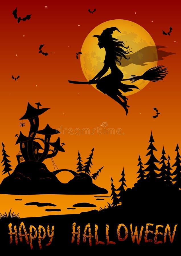 Предпосылка хеллоуина праздника иллюстрация вектора