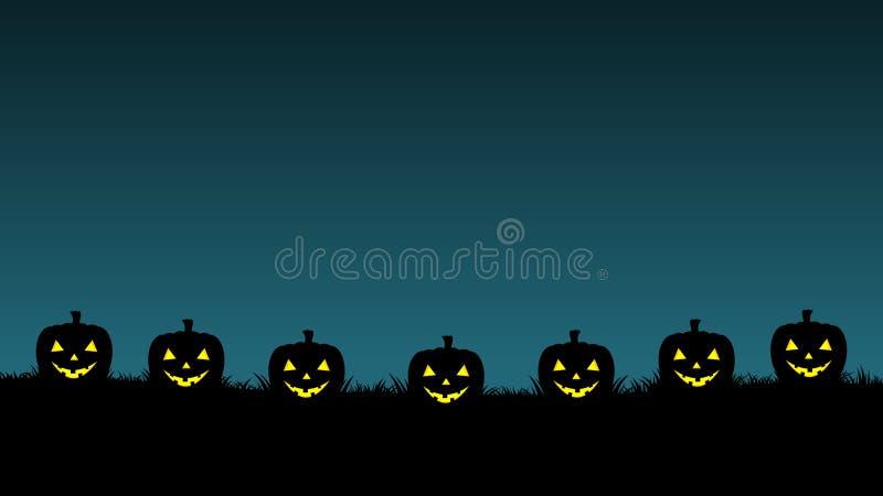 Предпосылка хеллоуина с высекает тыкву r бесплатная иллюстрация
