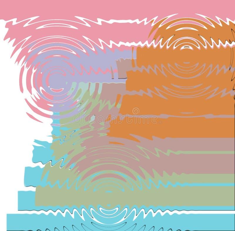 Предпосылка цвета графического дизайна с пинком, фиолетовыми, оранжевыми, голубыми светлыми цветами иллюстрация вектора