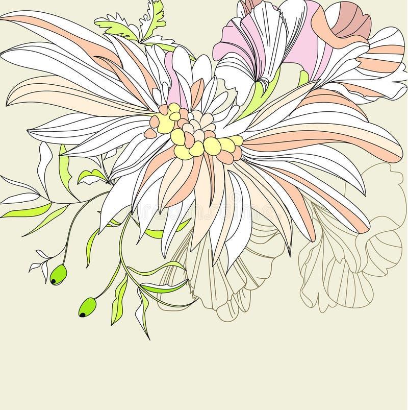 предпосылка цветет романтичное иллюстрация штока