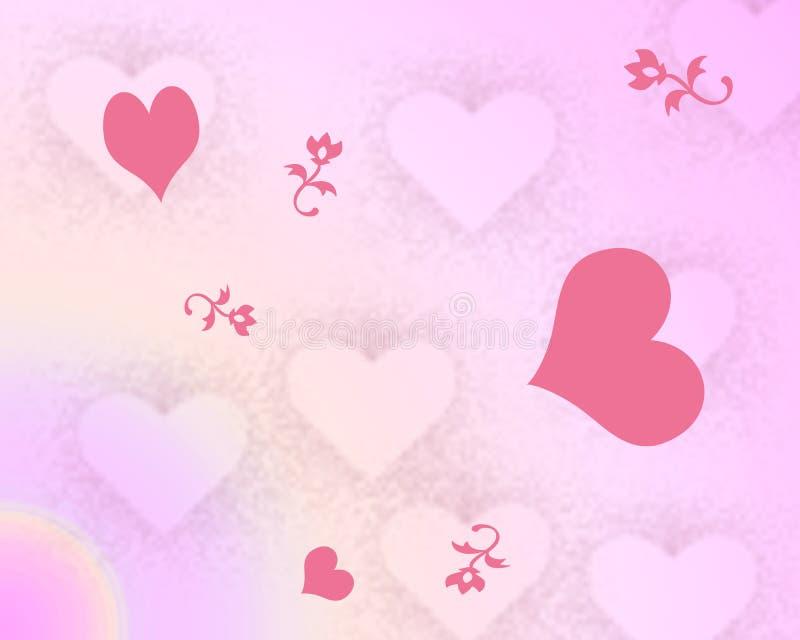 предпосылка цветет сердца бесплатная иллюстрация