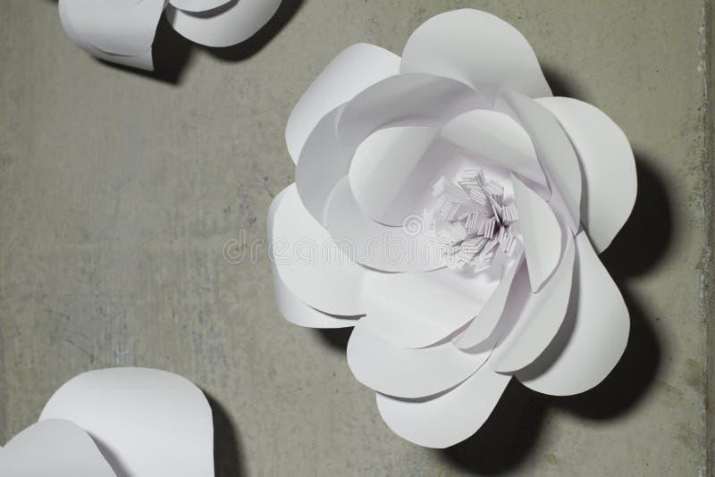 Предпосылка цветков белой бумаги, wedding украшение, стоковые изображения