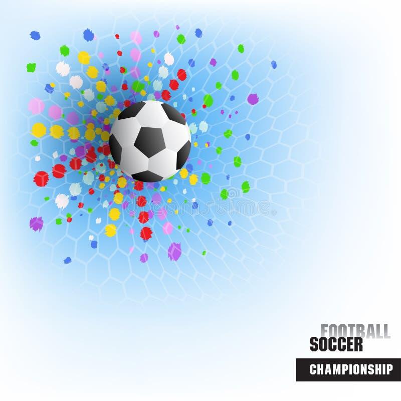 Предпосылка цели спички футбольной игры иллюстрация штока