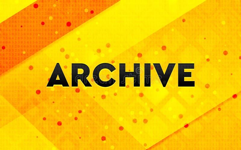 Предпосылка цифрового знамени конспекта архива желтая иллюстрация вектора