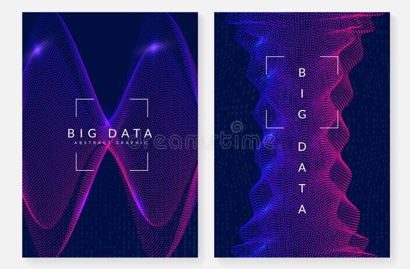 Предпосылка цифровой технологии абстрактная Искусственный интеллект, иллюстрация вектора