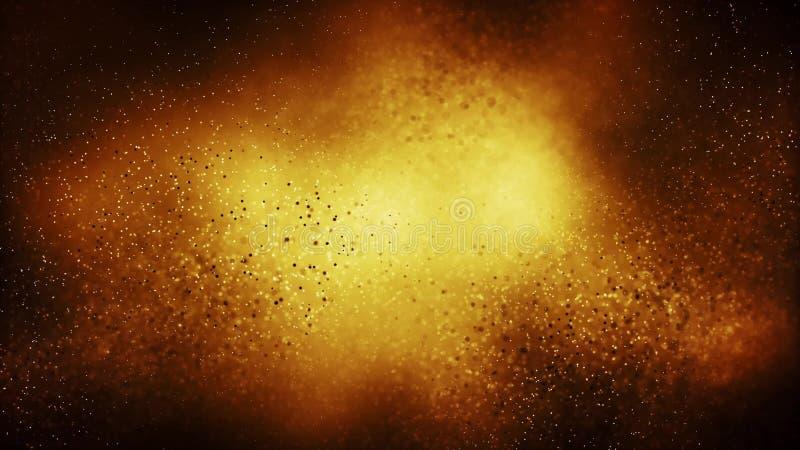 Предпосылка частицы безшовная на концепции золота праздничной иллюстрация вектора