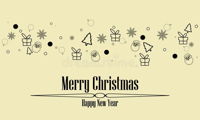 Предпосылка черноты знамени элемента значков орнамента приветствию рождества изолированная цветом бесплатная иллюстрация