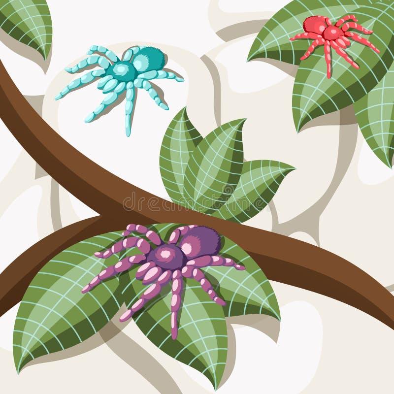 Предпосылка экзотического насекомого равновеликая иллюстрация штока