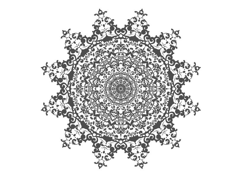 Предпосылка элемента абстрактной мандалы круга декоративная бесплатная иллюстрация
