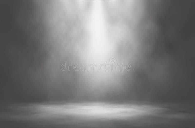Предпосылка этапа белого дыма фары тусклая стоковые фотографии rf