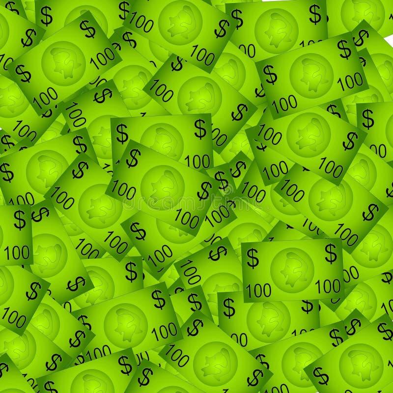 Предпосылка 100 счетов доллара стоковые изображения