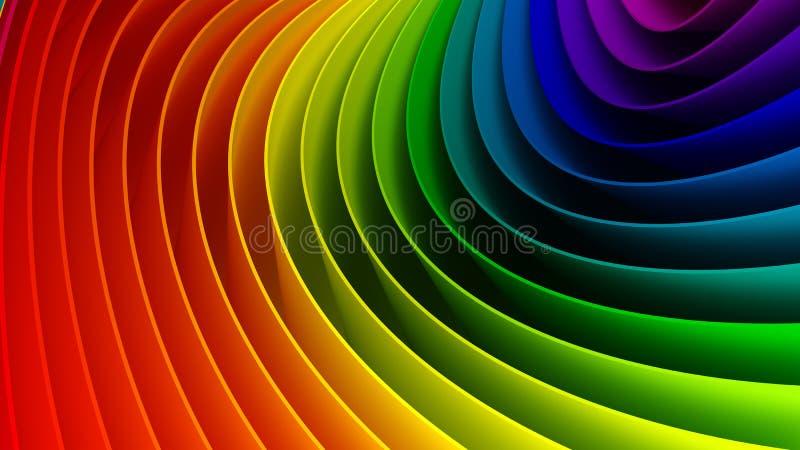 предпосылка 3d цветастая иллюстрация вектора