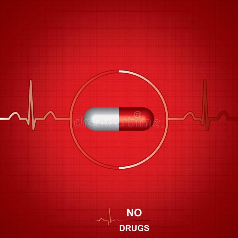 Предпосылка Anti снадобья медицинская иллюстрация штока