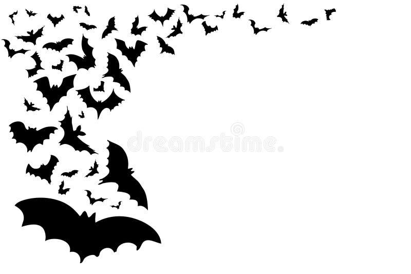 предпосылка bats halloween иллюстрация вектора