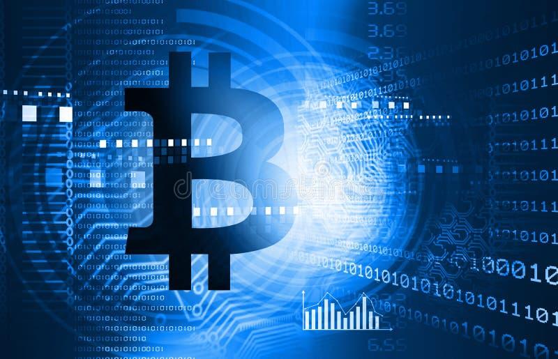 Предпосылка Bitcoin иллюстрация вектора