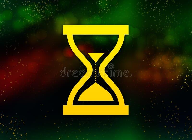 Предпосылка bokeh конспекта значка часов песка таймера темная иллюстрация штока